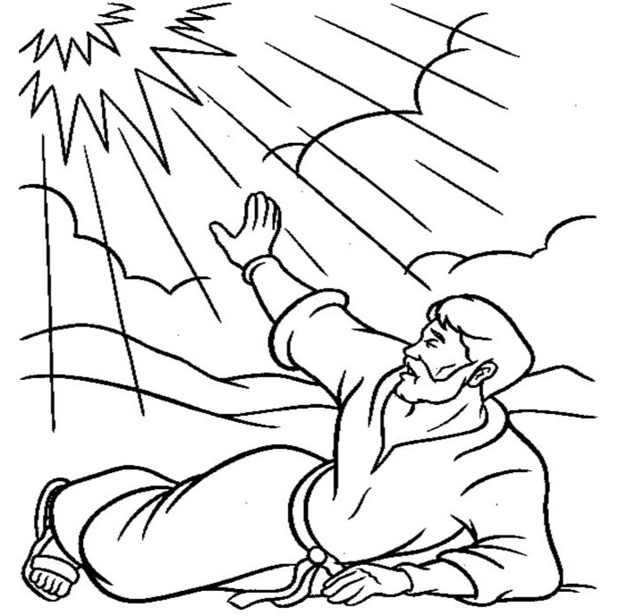 Paul Preaching Coloring Page Coloring Pages