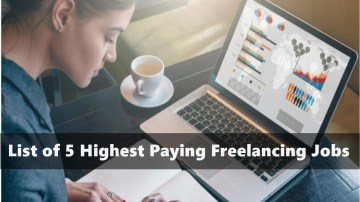 5 Highest Paying Freelancing Jobs