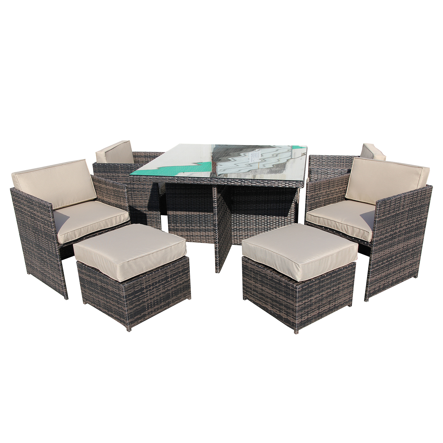 rattan indoor sofa bed outdoor glider cushions couch weave pool lounge brown canggu