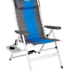 Folding Chair Nepal Fishing Trolley Oztrail Camping Cascade Deluxe 8 Position With Side