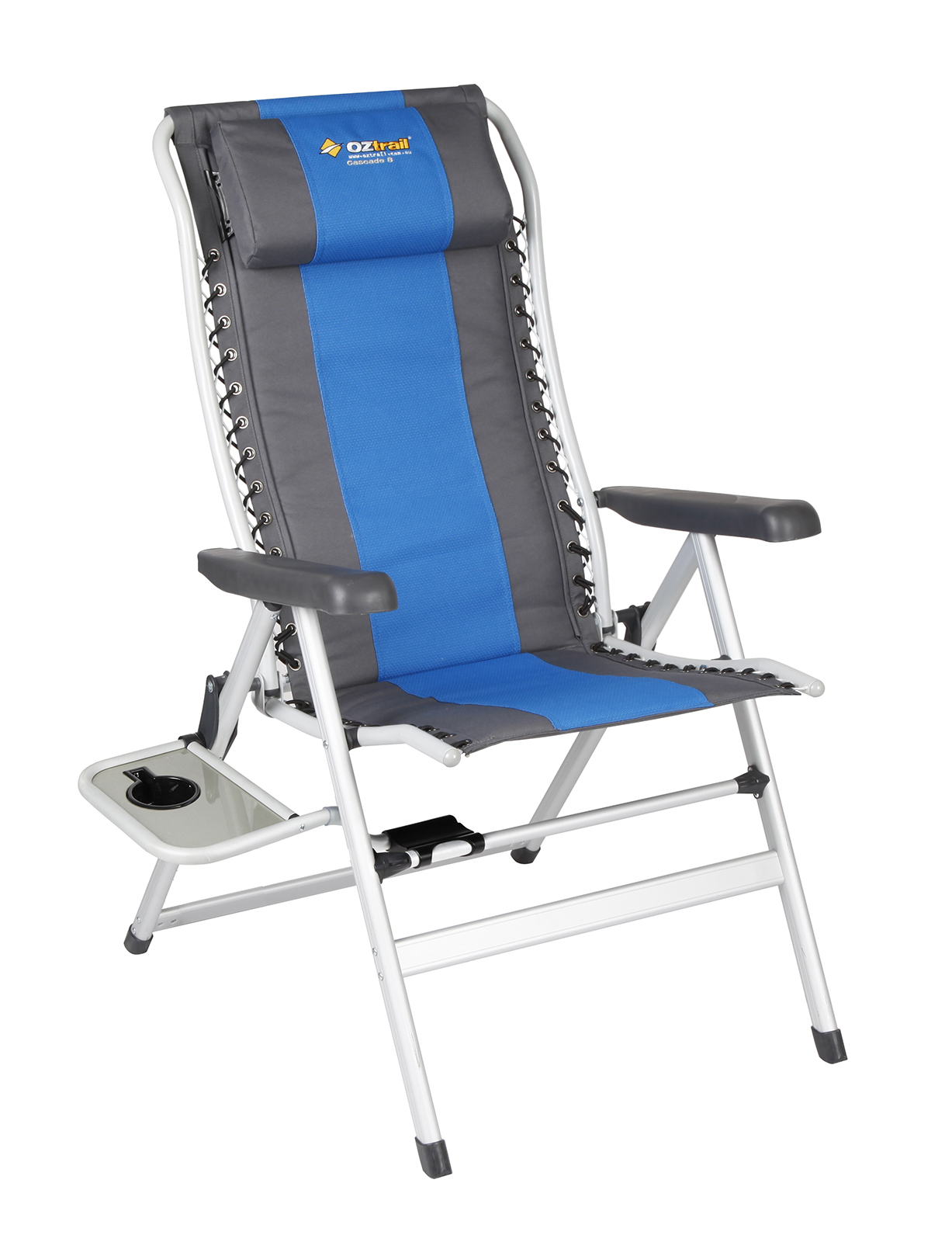 Deluxe Camping Chairs Oztrail Camping Chair Cascade Deluxe 8 Position With Side