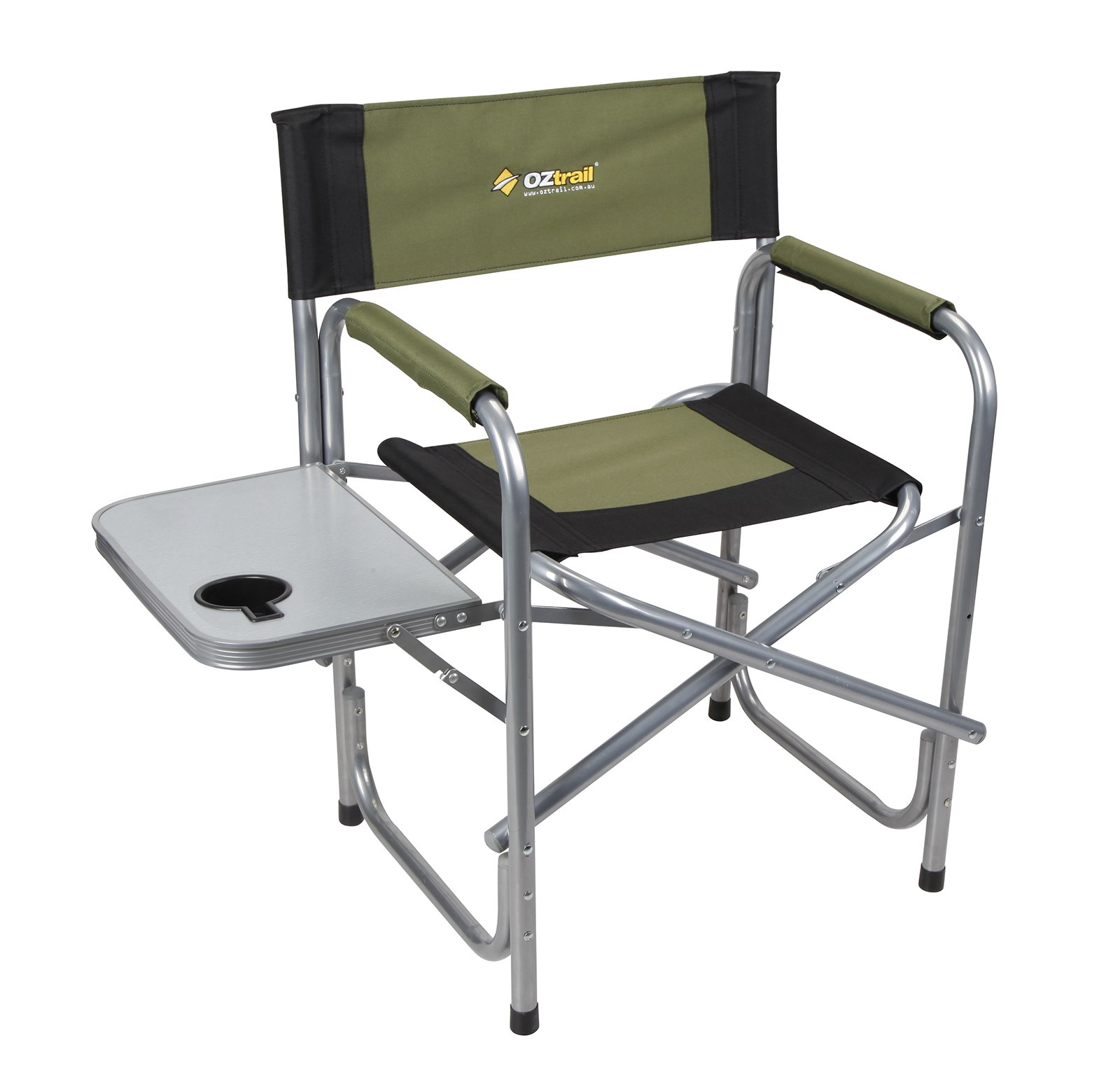 camping chairs with side table tripp trapp chair instructions oztrail directors folding classic