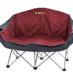 Double Camp Chair Cover Express Ann Arbor Oztrail Galaxy Sofa 2 Seat Lounge Arms Folding