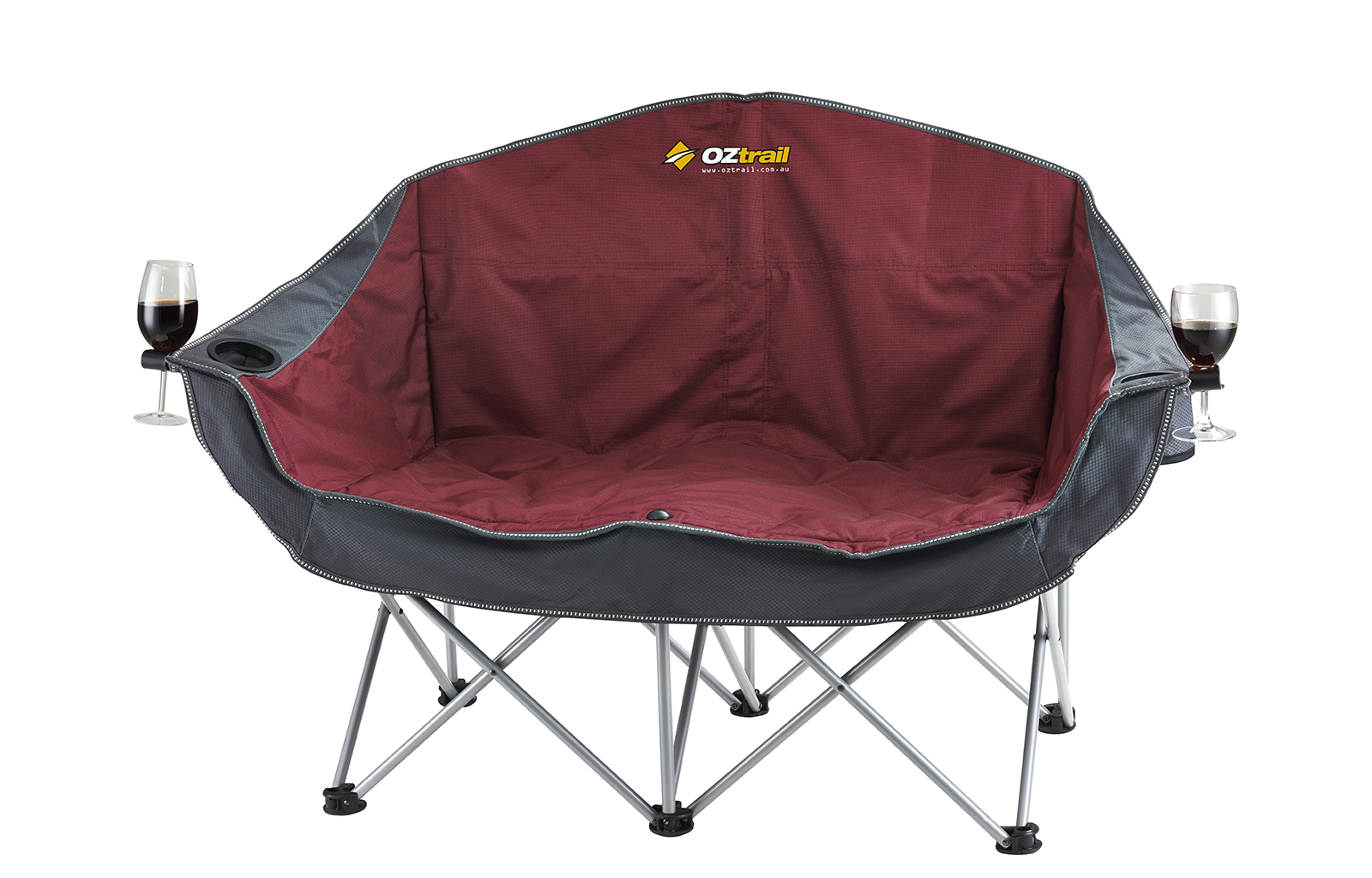 Best Camp Chair Oztrail Double Galaxy Sofa 2 Seat Lounge Arms Folding