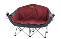 Oztrail Double Galaxy Sofa 2 Seat Lounge Arms Folding ...