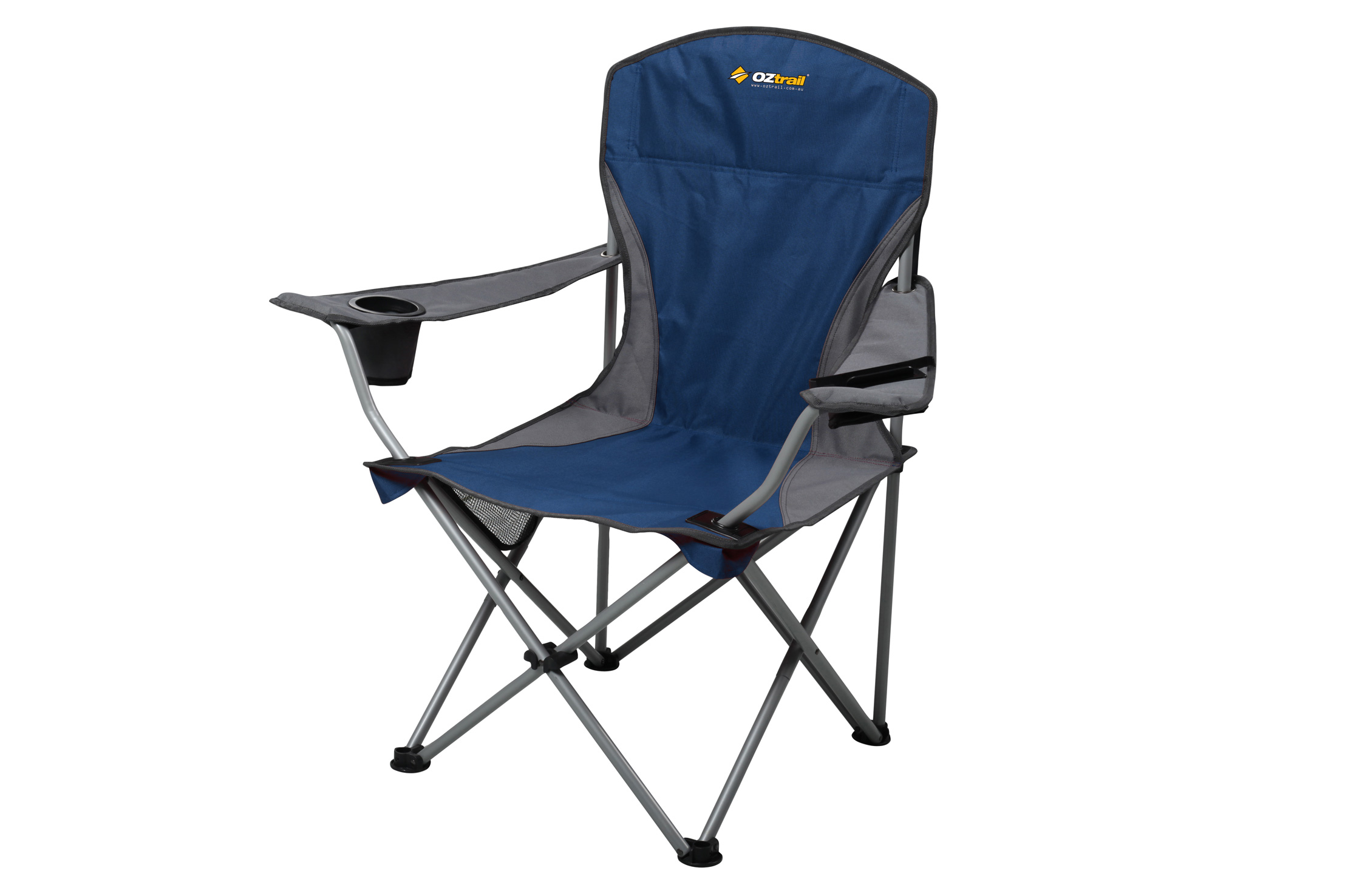 Deluxe Camping Chairs New Oztrail Camping Chair Deluxe Armchair Drink Phone