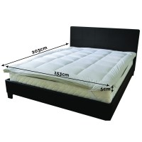 New Fibre Pillowtop Mattress Luxury Topper Pillow