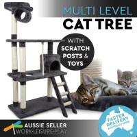 Cat Scratching Post Pole Scratcher Climbing Multi Level ...