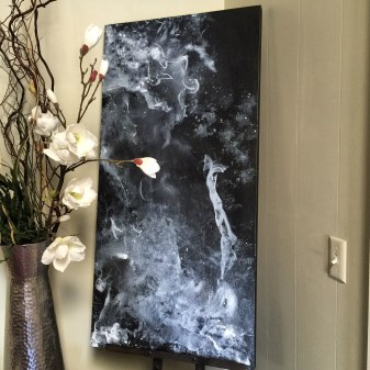 """Smoke & Mirrors"" 24""x48"" Acrylic on Canvas"