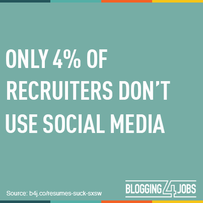 social media job searching