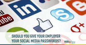 social media, passwords, employer