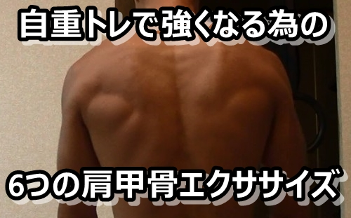 自重トレで成果を出すためにやるべき6つの肩甲骨エクササイズ