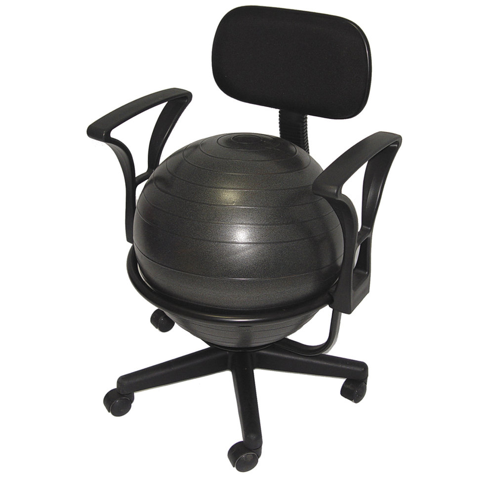 Chair Exercise Deluxe Exercise Ball Office Desk Chair For Balance Posture By Aeromat