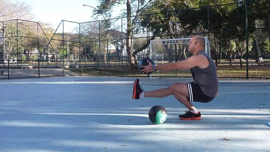 Man doing a pistol squat