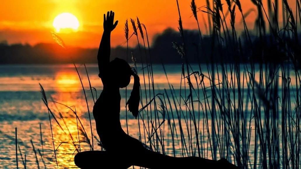 Yoga sun salutation exercise