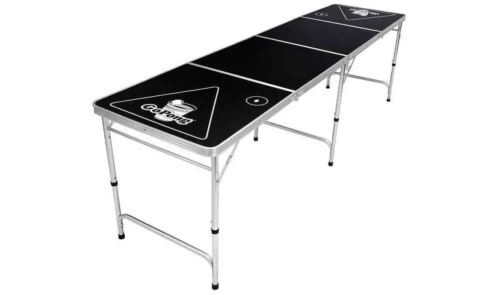 A beer pong table