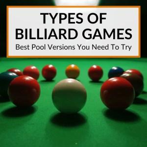 Type Of Billiard Games