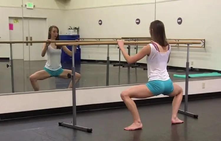 ballet barre squats