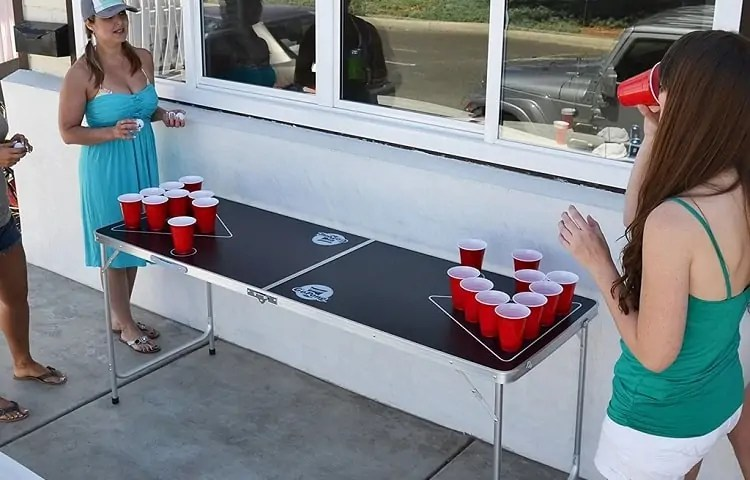 rules for beer pong table sizes