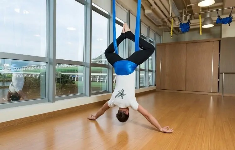 benefits of hanging upside down
