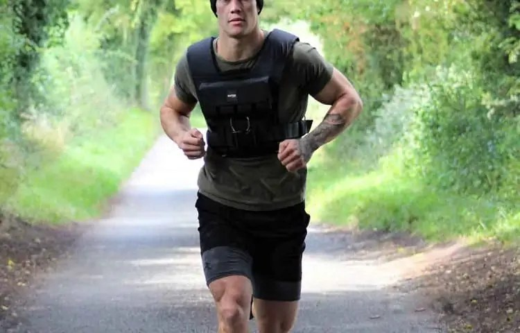 running with a weighted vest