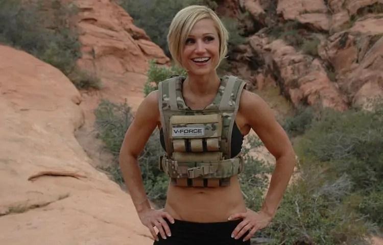 woman wearing weight vest