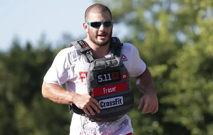 crossfit competition with weight vest