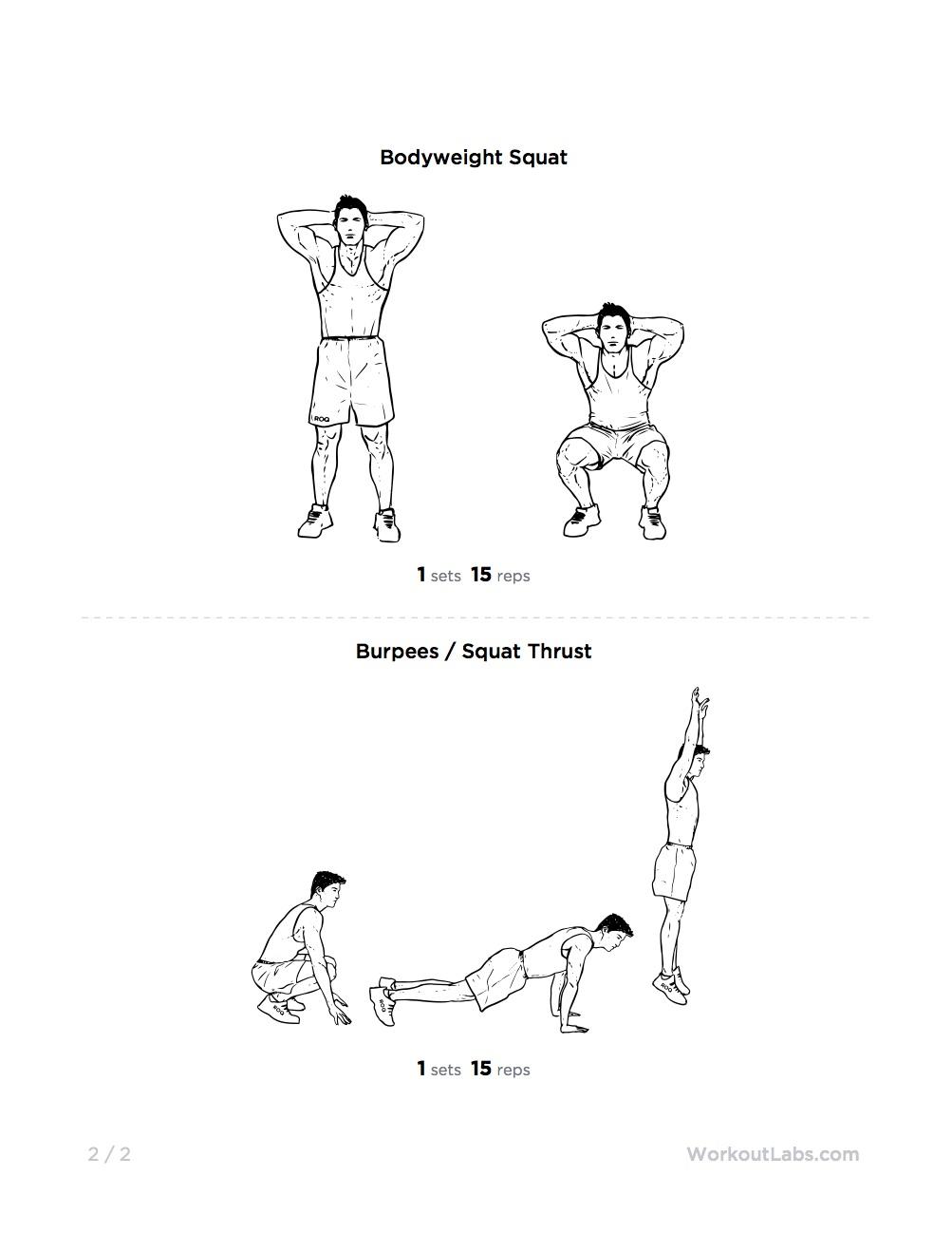 15-Minute Full Body Burner at Home Workout for Men & Women