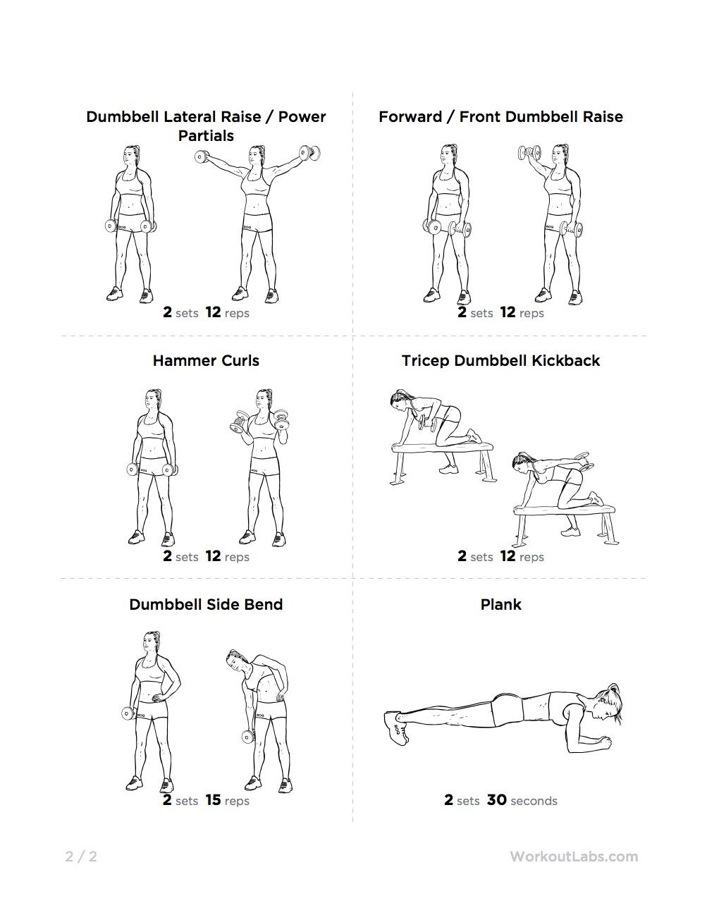Full Body Dumbbell Workout for Teens