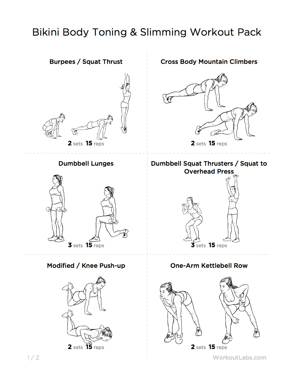 Bikini exercise program