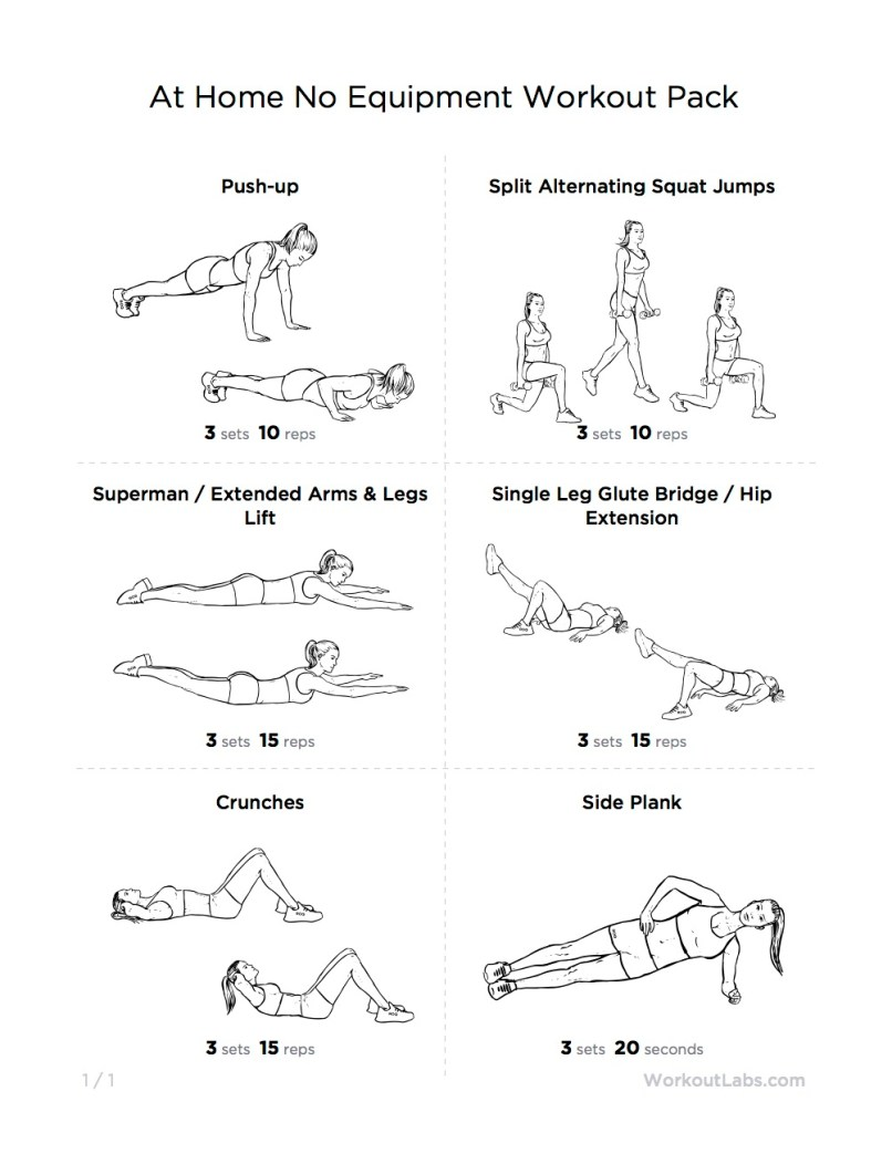 Home Muscle Building Workout Without Equipment Routines