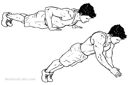 lower back exercises diagram manufactured homes dynamic clap push-up | illustrated exercise guide - workoutlabs