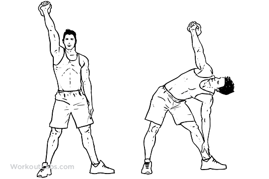 Kettlebell Windmill  Illustrated Exercise guide  WorkoutLabs