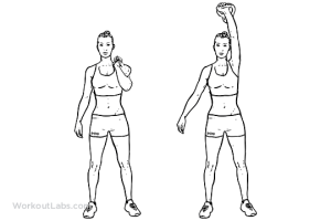 OneArm Kettlebell Push and Press | WorkoutLabs