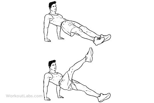 Reverse Plank Kicks  Planks  WorkoutLabs