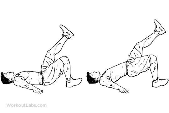 Single Leg Glute Bridge / Hip Extension with Leg Lift
