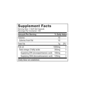 MUSCLETECH - Fish Oil (100 Softgels)