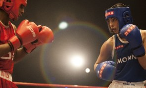 Priyanka in a boxing scene in the biopic Mary Kom