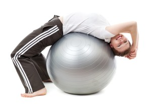 Happy exercising girl