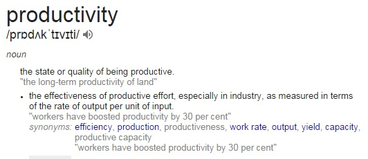 Productivity meaning