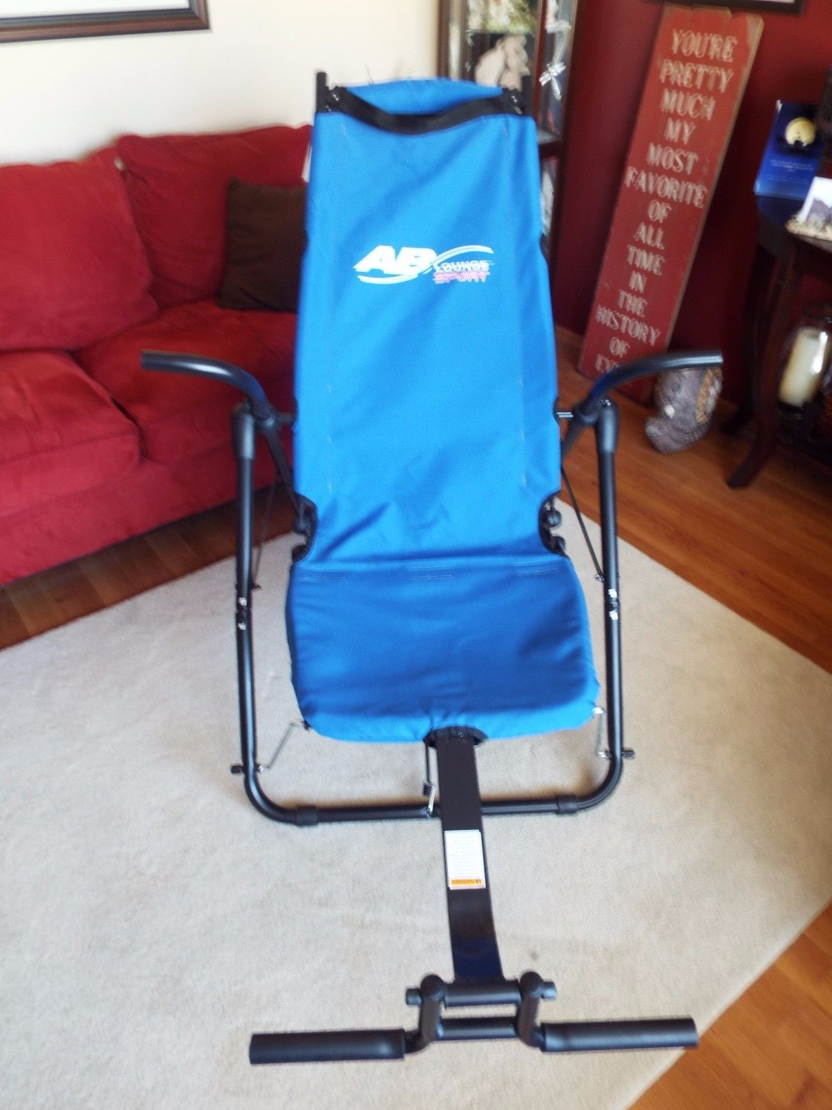 chair exercises for abs office floor mat ab lounge 2 abdominal workout exercise blue