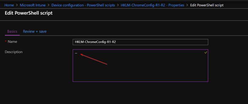 Recover Intune PowerShell scripts Description