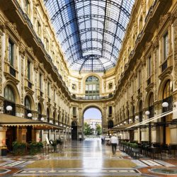 The Galleria Vittorio Emanuele II in Milan which has just been named as the first winner of a wellbeing award