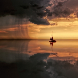 A becalmed boat faces a storm to describe the problem of languishing
