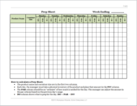 Hostess Rotation Chart Free Ms Word Template