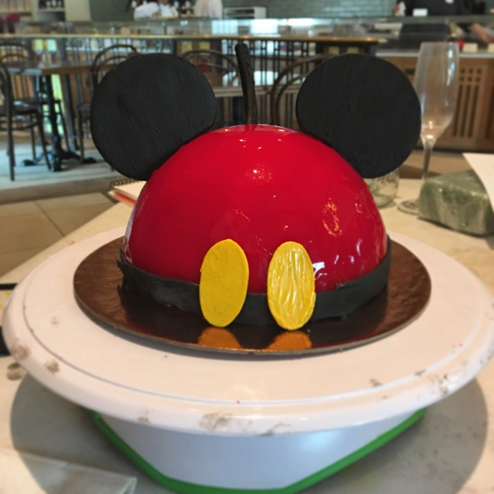 Mickey Mouse Cake Decorating at Disney Springs