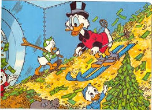 Skiing -- Scrooge McDuck style   Scrooge mcduck, Duck tales, Cartoon