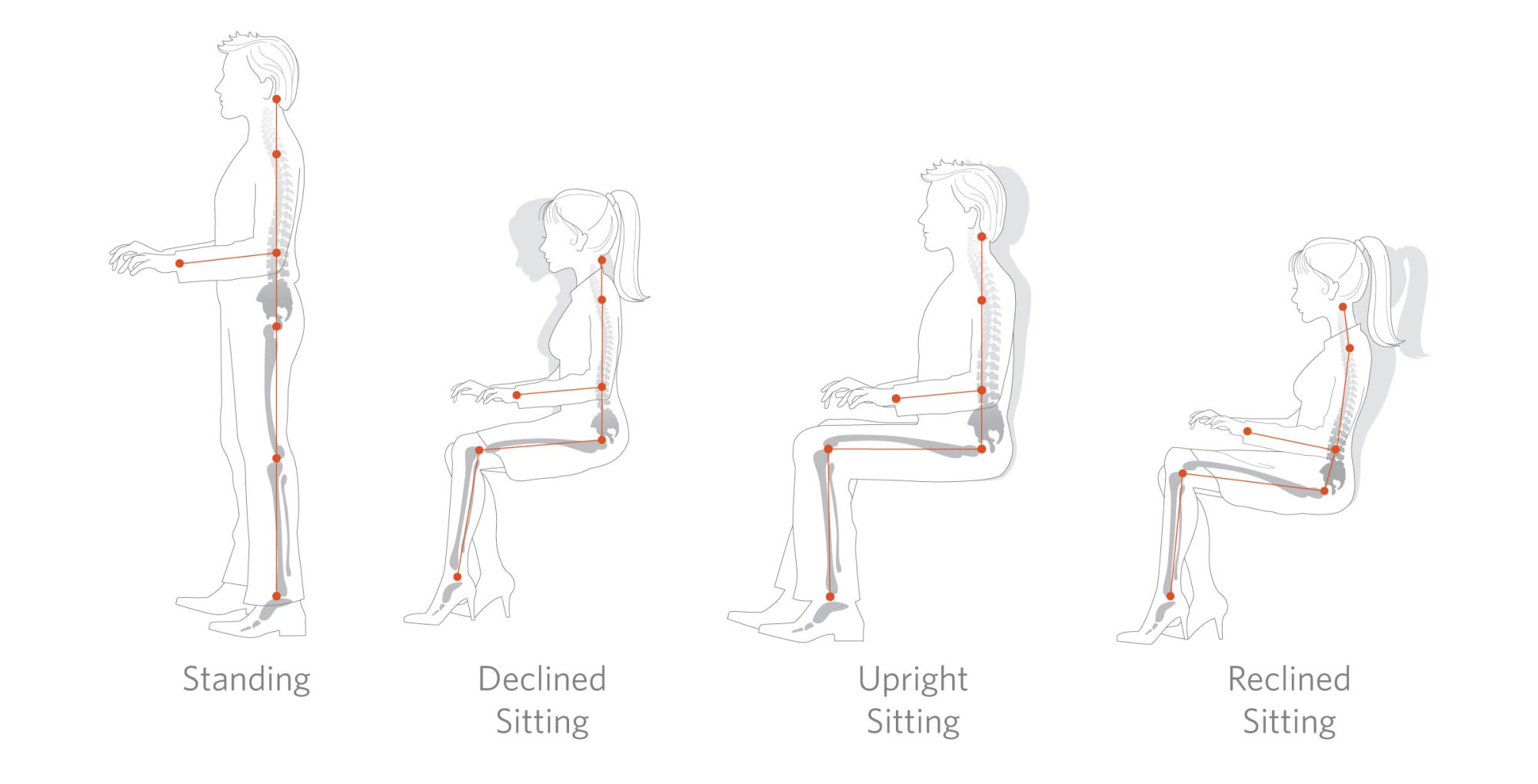hight resolution of acceptable working postures