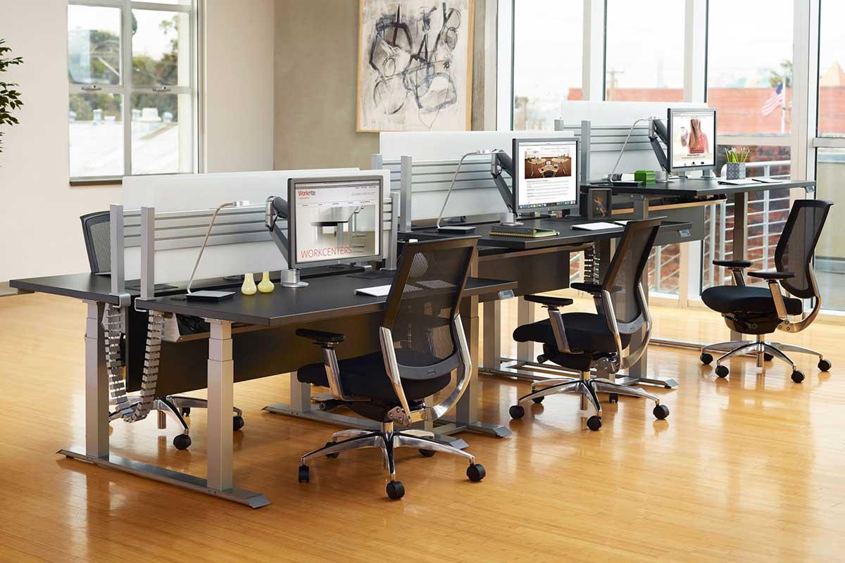 chairs for standing desks handmade wood chair home sit stand desk converters workrite ergonomics