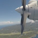 プロペラ機の飛行映像(タイムラプス)